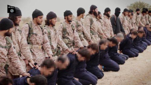 yihadistas con rehenes