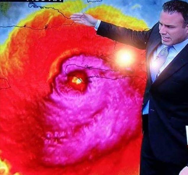 dibujo de craneo del huracan matthew cuando paso sobre haiti en 2016 sin twitter